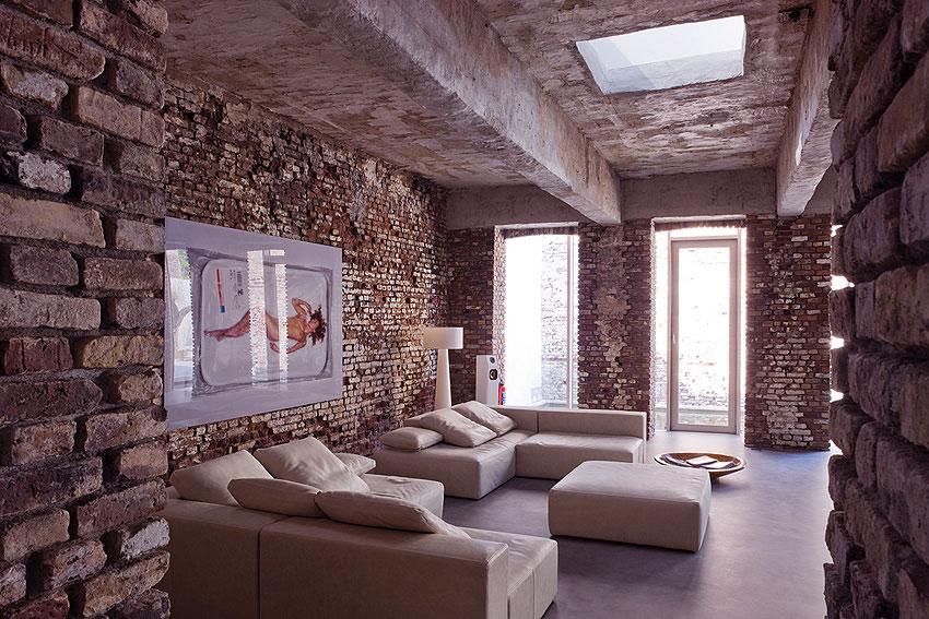 Modern Minimalist Industrial Living Room Design