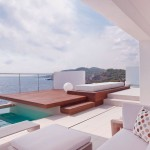 Modern Patio with Wood Deck Design Villa