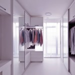 Modern Walk in Closet with Large Mirror