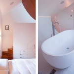 Modern White Bedroom and Bathroom Rozelle Terrace House