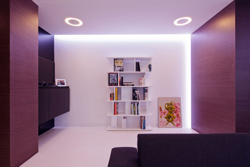 Modern White Bookcase in Reading Room
