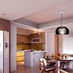 Modern White Brown Decor Kitchen Diner