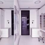 Modern White Dressing Room Design