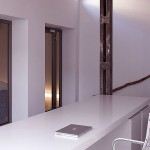 Modern White Home Office Space Garage Loft Ideas
