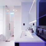 Modern White Purple Bathroom Scheme