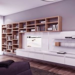 Neutral Bookshelves Furniture Living Room
