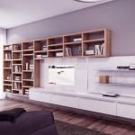 Neutral Bookshelves Furniture Living Room