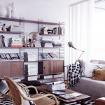 Neutral Classic Living Room Storage Design