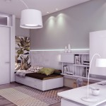 Neutral Guest Room with recessed lighting wall