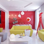 Open Living Space Apartment with Colorful Decor