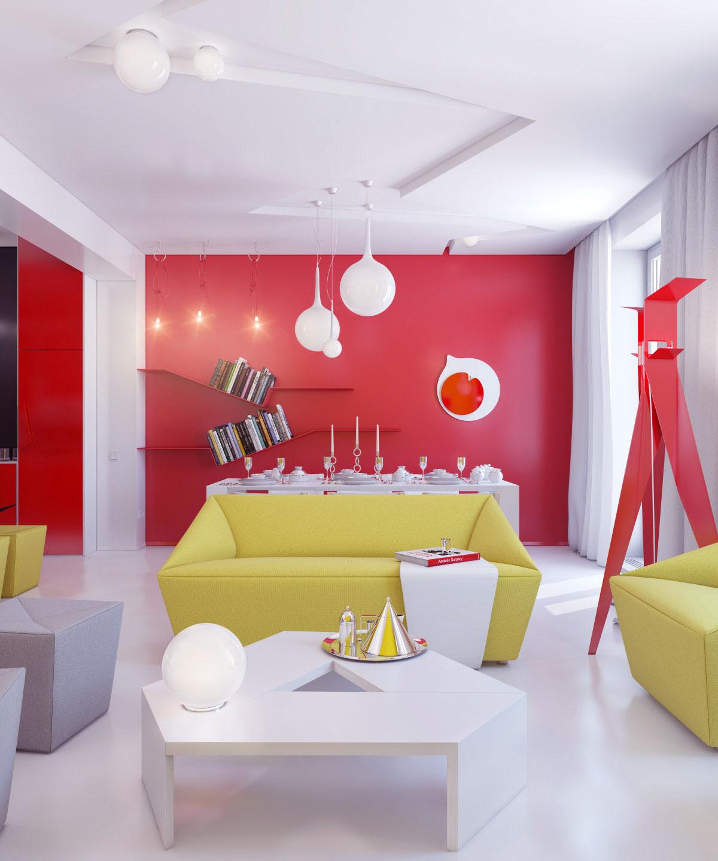 Bold Idea Cheap Interior Design Ideas For Apartments Great: Bright Color Small Apartment Decor Ideas