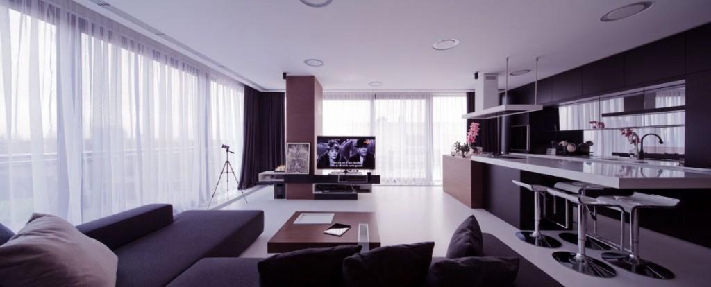 Open Plan Living Room Kitchen Apartment Ideas
