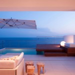 Private Pool Villa with Marble Stone Lamp Shade