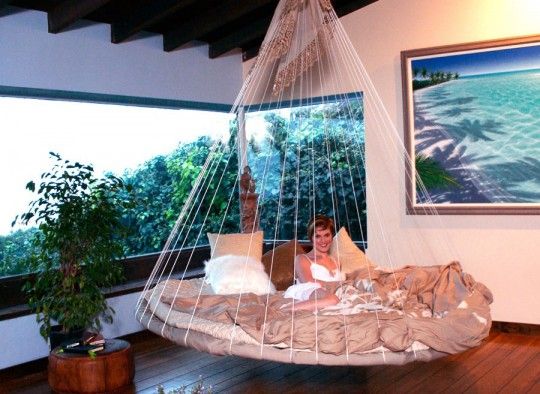 Unique Indoor Floating Bed Hammock Ideas