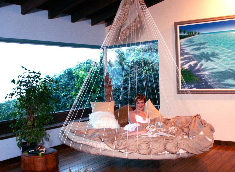 Unique Indoor Floating Bed Hammock Ideas