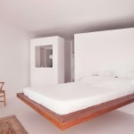 Wooden Platform Bed in White Room Ideas