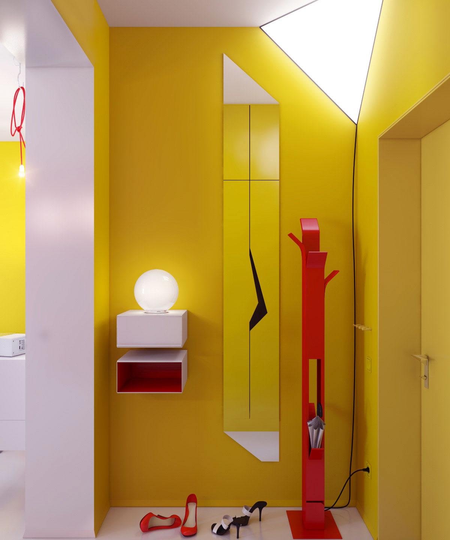 Bright Color Small Apartment Decor Ideas - Interior Design Design ...