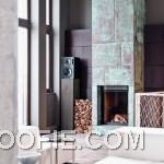 Contemporary Corner Fireplace Industrial Decor Ideas