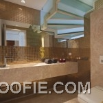 Gold Bathroom Mosaic Tile Design