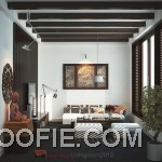 Modern Asian Inspired Living Room Design