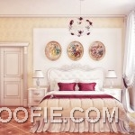 Modern Classic Cream Red Bedroom Scheme