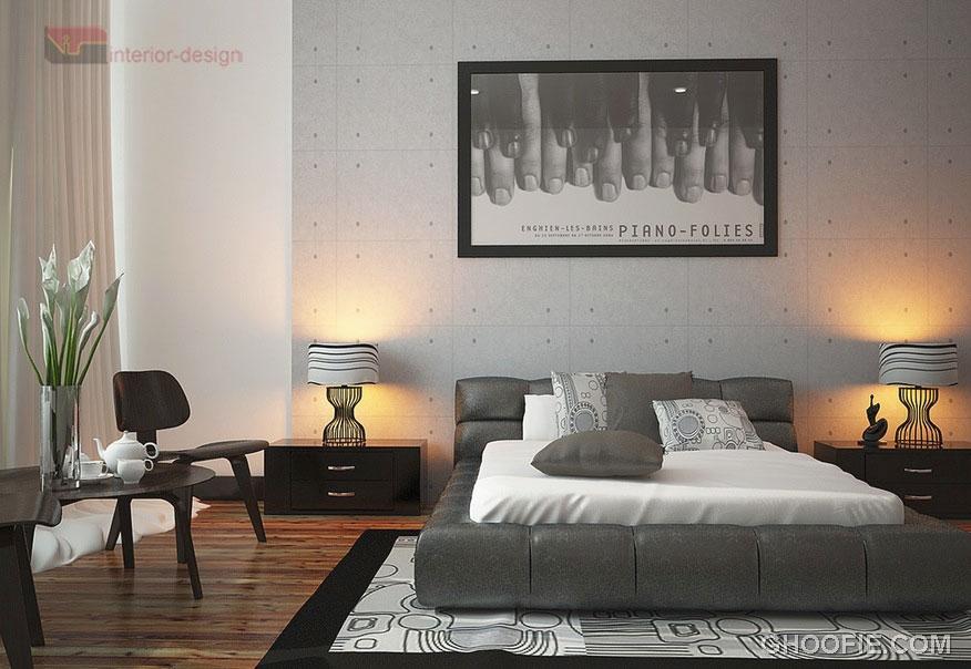 Modern Monochrome Bedrooom Decor Scheme Ideas