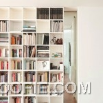 Modern White Book Storage Design