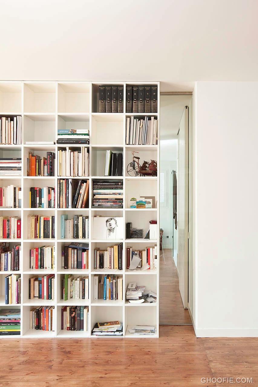 Modern White Book Storage Design