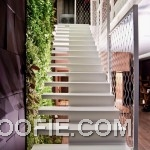 Modern White Floating Open Staircase