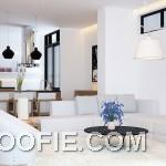 Super Clean Open Plan Living Room Decor