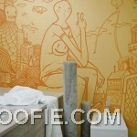 Tintin Illustrative Wall Art Mural Bathroom
