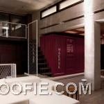 White Modular Sofa Living Room Industrial Decor Design