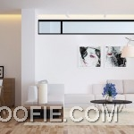 White Oak Living Area with Urban Wall Art Decor