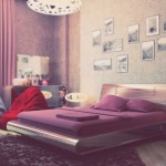 Beautiful Purple Cream Bedroom for Girl