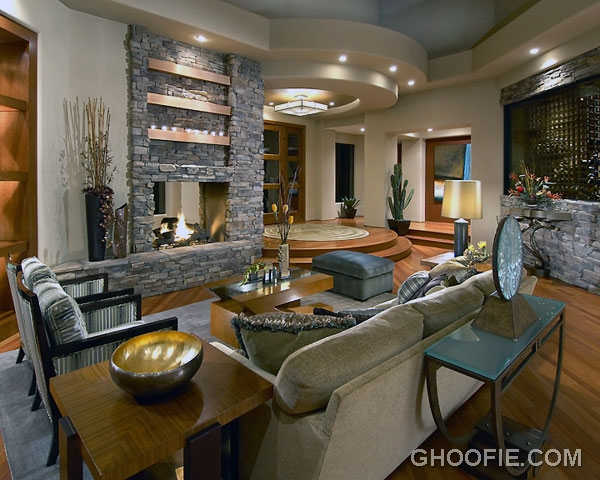 Bright Living Room with Ceiling Light Decor