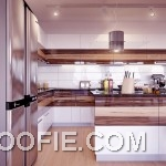 Cool Walnut Kitchen Cabinets White Gloss Design