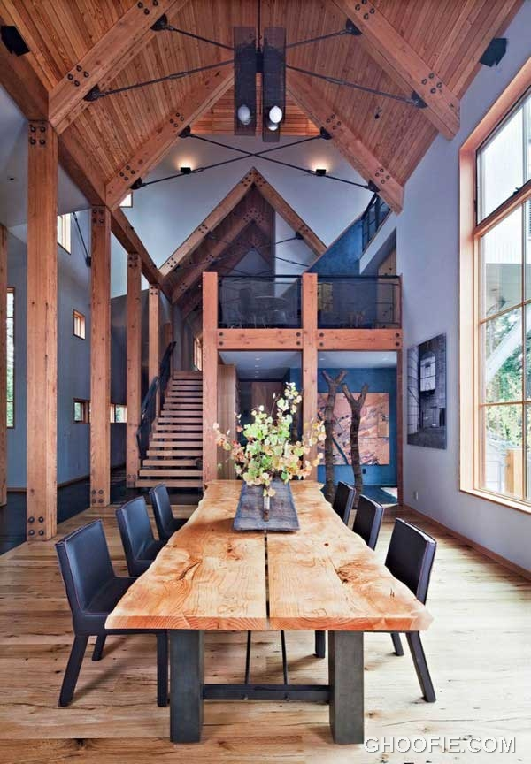 Elegant Dining Area Design Ideas with Natural Wood Table