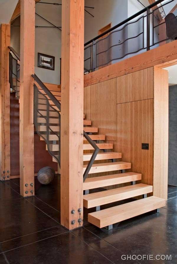 Fancy Wooden Staircase Design Ideas