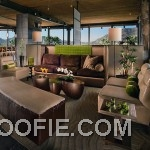 Master Luxury Living Room with Brown Leather Sofas