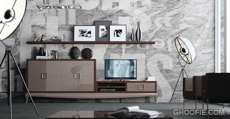 Minimalist Living Room Design with Grey and Brown Color Combination