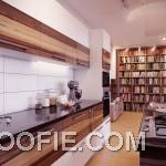 Modern White Backsplash Wooden Units Kitchen