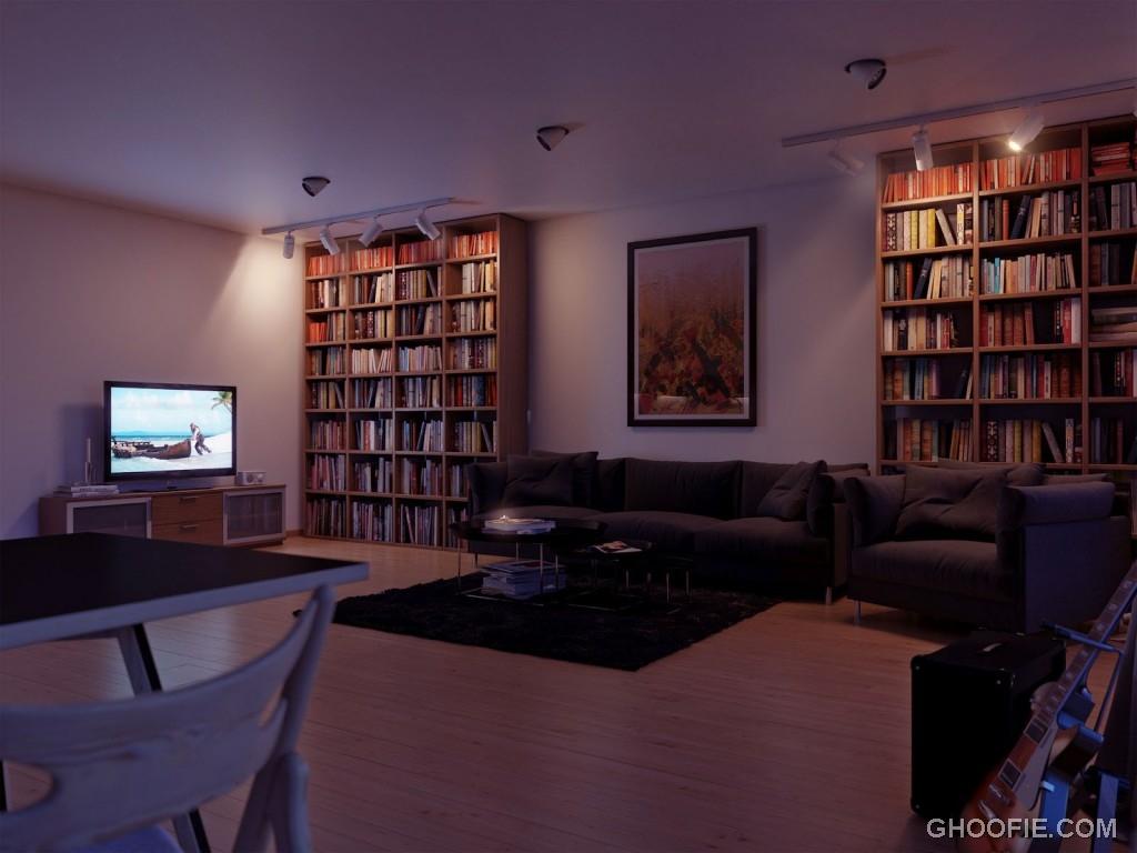 Neutral open plan living room decor ideas interior for Open living room ideas