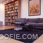 Spacious Living Room With Contemporary Grey Sofa