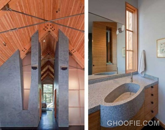 Unusual Bathroom Design with Unusual Furniture