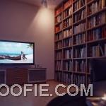 Walnut Entertainment Unit Furniture Living Room