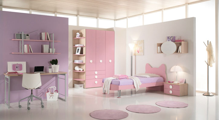 Beautiful Soft Color Pink Purple For girls Bedroom - Interior ...