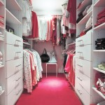 Beautiful Walk-In Closet with Pink Floor