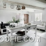 Bright Kitchen Design with Vintage Furniture