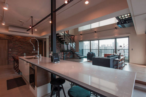 Contemporary Kitchen Design without Bulkhead