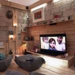 Cozy Multimedia Library Design Ideas